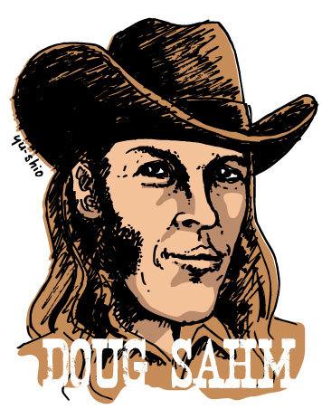 Doug Sahm caricature likeness