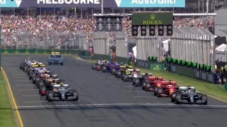 2019年F1第1戦のスタート