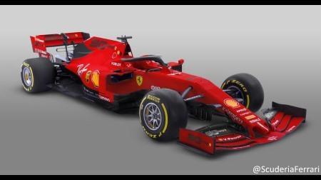 フェラーリ2019F1開幕仕様カラーリング