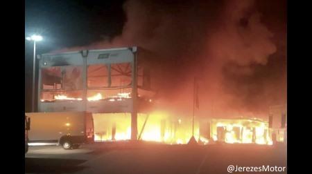 MotoE選手権のマシンが火災で全台焼失