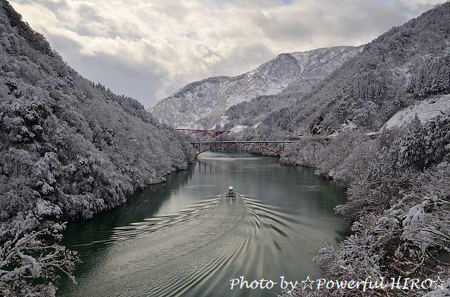 庄川峡冬化粧 (1)