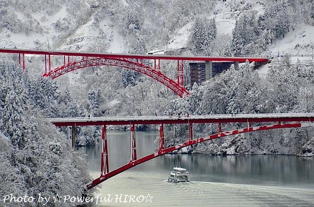 庄川峡冬化粧 (3)