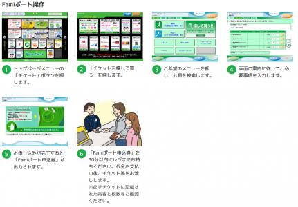 Famiポートでチケットを発券する方法