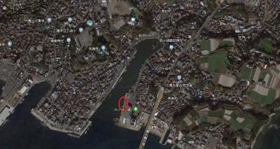 北条湾(Google Earth)