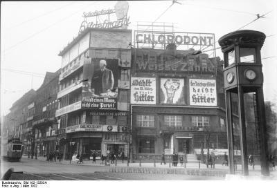 ヒンデンブルクとヒトラーの選挙広告(1932年3月_convert_20190302135011