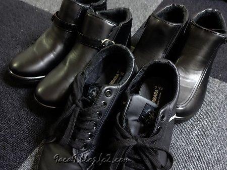 足のサイズは23cm お安い靴を3足ゲット