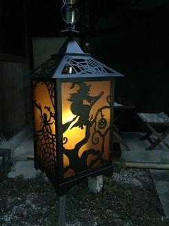 ハロウィーン魔女ライト