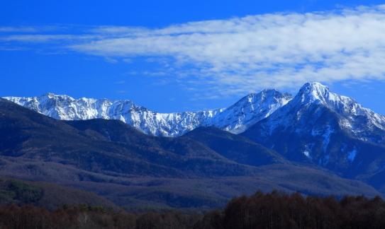 南八ヶ岳の名峰と雲