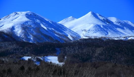 白銀の乗鞍岳