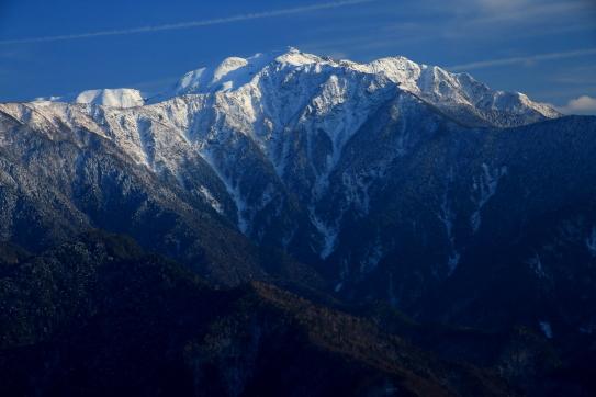 白銀の仙丈ヶ岳