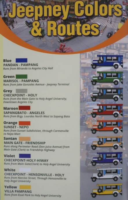 jeepney color code in angeles city (1)