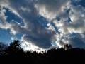 青葉山に入る日