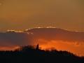 成田山に沈む夕陽