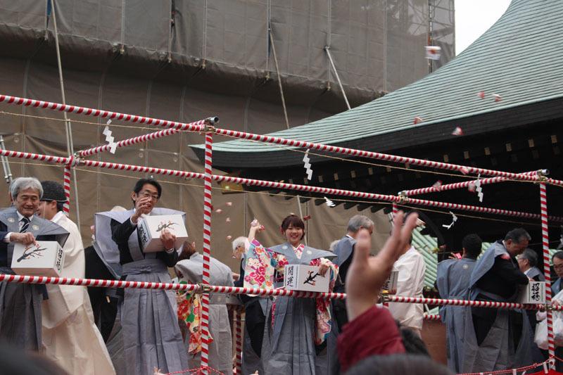 豆まき 浅間神社 190203a