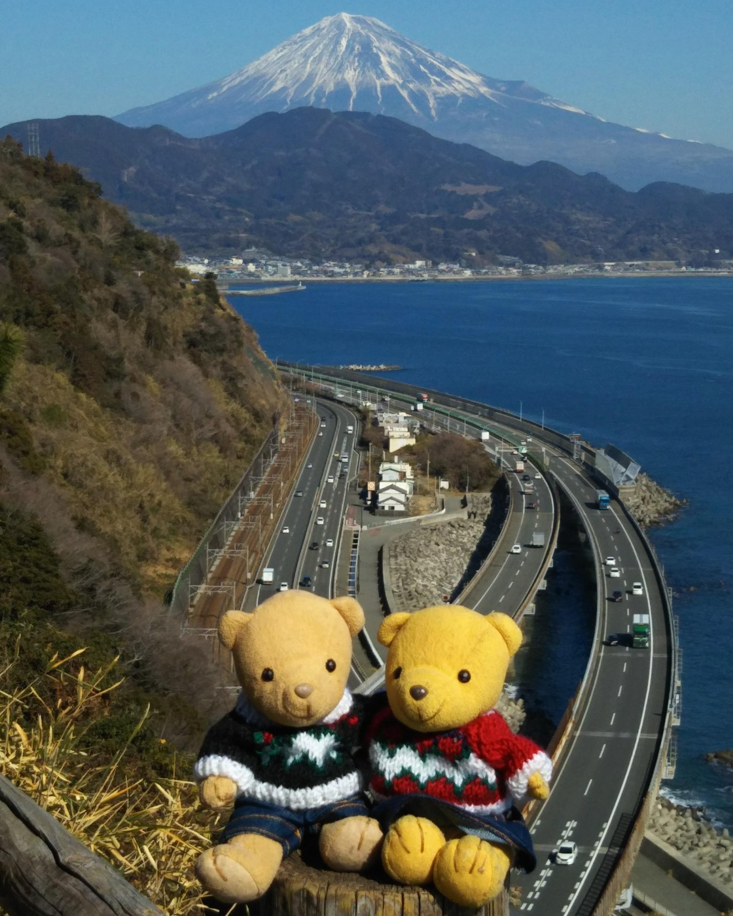 さった峠で 富士山と 190202 スマホ