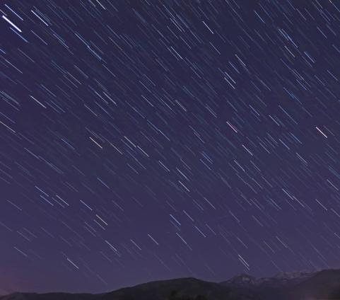 星空と吾妻山