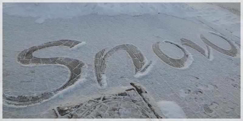 2019年1月7日 雪でカリグラフィー2