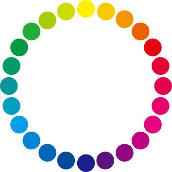 24色相環