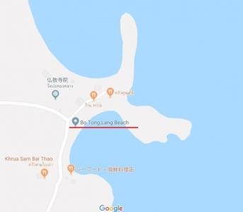 ボートンランビーチ地図