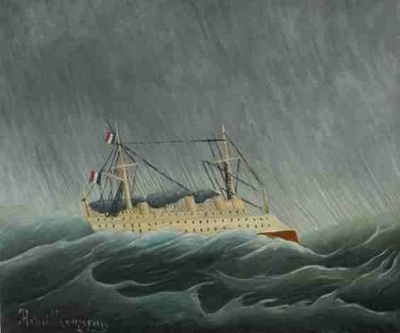 アンリ・ルソー《嵐の中の船