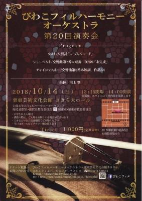 びわこフィル第20回演奏会チラシ