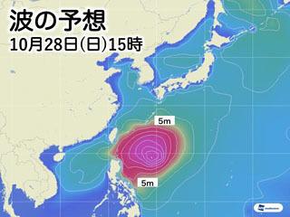 台風26号の波の様子(10月28日15時)