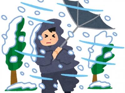 暴風雪(いらすとや)