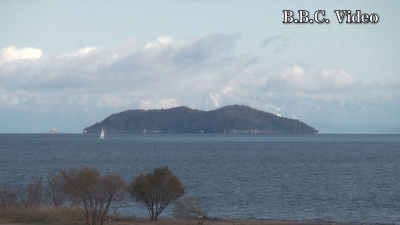 雪景色になった琵琶湖北湖(YouTubeムービー)