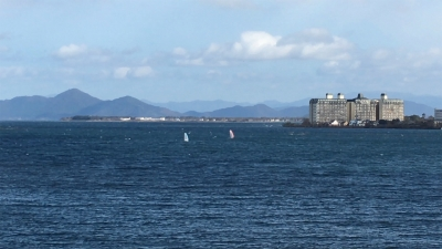 琵琶湖大橋西詰めから眺めた北湖(YouTubeムービー)