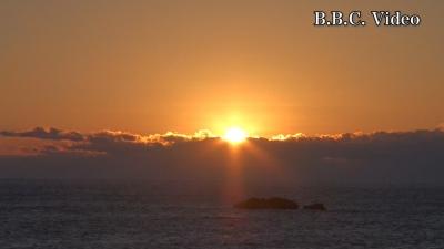 熊野灘の初日の出(YouTubeムービー)
