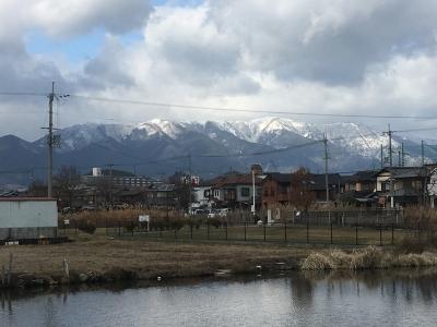 カヤ池から眺めた比良山(1月11日13時頃)