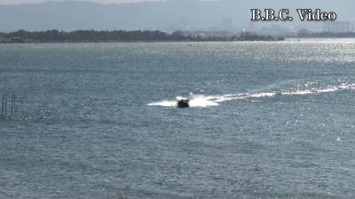 いよいよ厳寒期!! 強い西風になった琵琶湖(YouTubeムービー)