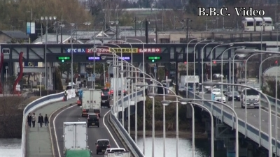 ETC化初日の琵琶湖大橋(YouTubeムービー)