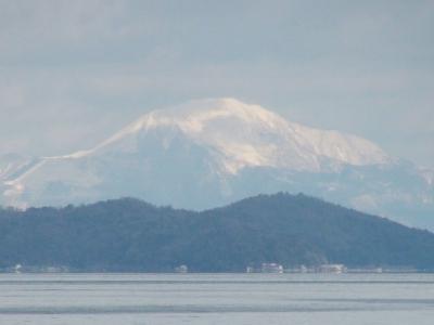 雪の伊吹山(2月1日13時30分頃)