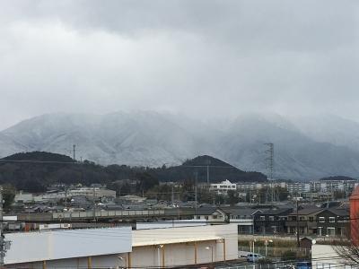 雪景色の比良山