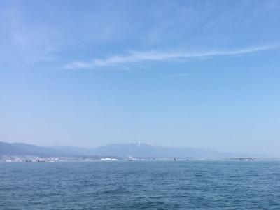 晴天軽風の琵琶湖k南湖.(3月2日13時30分頃)