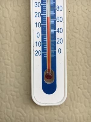 堅田の12時の気温 19度近くまで上昇してます