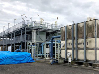 矢橋人工島に設置された下水の超高度処理プラント