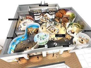 琵琶湖博物館第3期リニューアル計画の展示室レイアウト