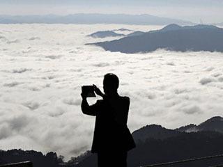 比叡山から眺めた大津市南部