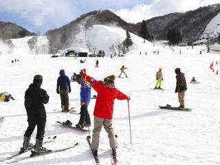 今期の営業が始まった奥伊吹スキー場