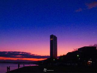 1月4日7時頃の大津市湖岸