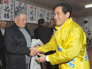 無投票での3選が決まった宮本和宏守山市長