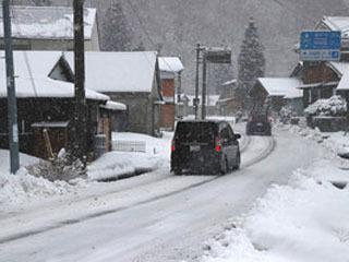 10cmを超える積雪になった長浜市余呉町内