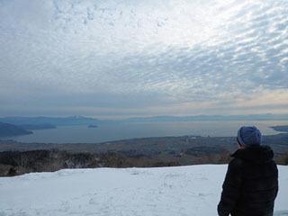 12月24日から3月24日まで期間限定中の箱館山びわ湖の見える丘