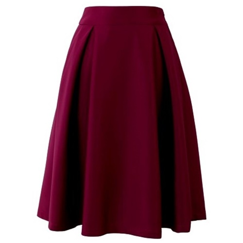 Full A-line Midi Skirt in Violet21
