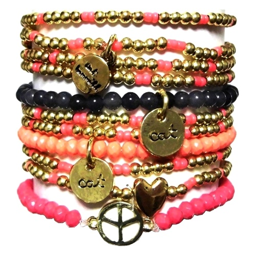 c003 fine peace cocobracelet set gold multi 11111