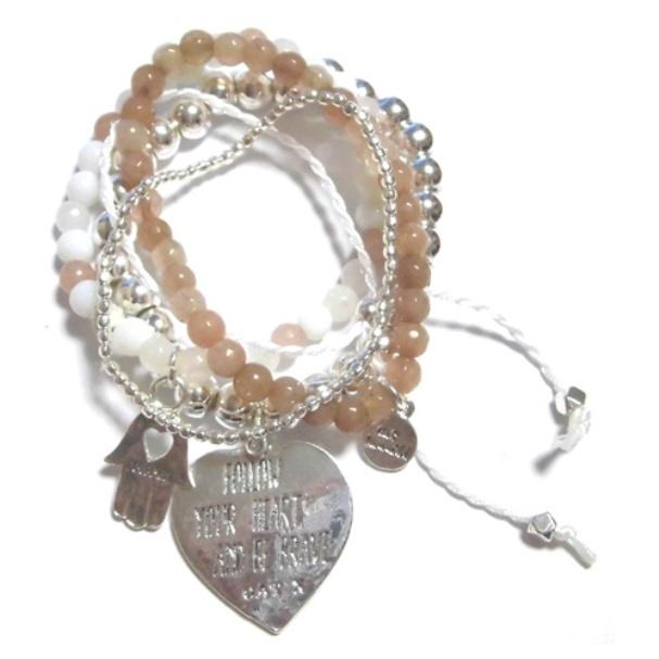A306 Crystal heart bracelet set (3)11