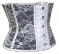 Thin Lace Underbust Waist Training Corsets Cincher (13)