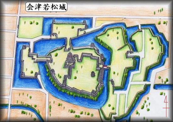 鶴ヶ城縄張り図